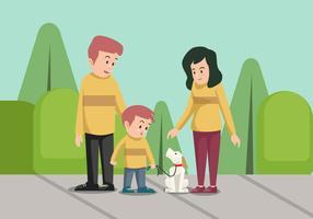 Hundefamilie-Vektor-Illustration vektor