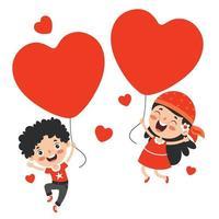 Liebeskonzept mit Zeichentrickfiguren vektor