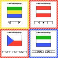 Arbeitsblatt zur Geographie für Kinder im Vorschul- und Schulalter vektor