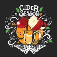 Härlig Doodle Illustration Apple Cider Season