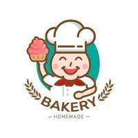 Lebensmitteletikett Bäckerei süße Bäckerei Dessert Süßigkeiten Shop Design-Vorlage vektor