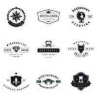 Vintage Logo und Typografie Elemente Vektor