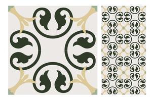 Vintage Fliesen Muster antiken nahtlosen Design vektor