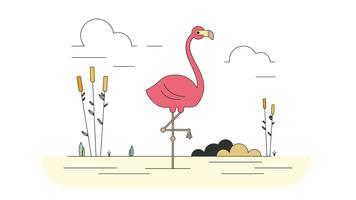 Rosa Flamingo Vector