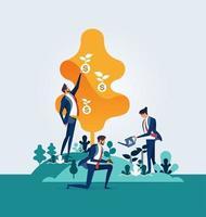 Schutz und Erhaltung der Umwelt durch Geschäftsleute vektor