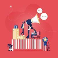 Unternehmensidentität, Marketing und Werbung vektor