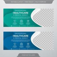 Banner-Vorlage für das Gesundheitswesen vektor