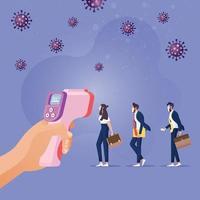 neuer normaler sozialer distanzierender Lebensstil in Covid 19, Coronavirus-Ära vektor