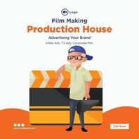 Banner-Design der Produktionshaus-Filmherstellungsschablone vektor