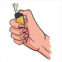 Feuerzeug in den Händen Vektor-Illustration vektor
