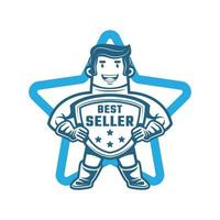 Bestseller Maskottchen Logo Charakter vektor