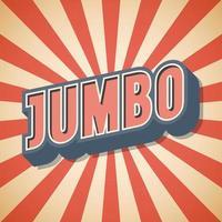 Jumbo Vintage Retro Sprachblase Hintergrund Vektor-Illustration vektor