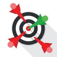 Zielerfolgskonzeptvektorillustration vektor