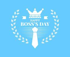 Vacker National Boss Day Set Vectors