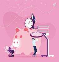 Zeitmanagementplanung. Zeit sparen Konzept vektor