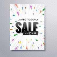 Vacker försäljning broschyr mall design vektor