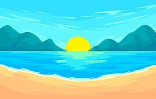 Sommer Landschaft Hintergrund vektor