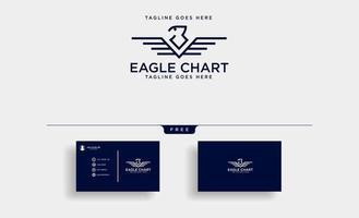 Adler oder Falke Vogel Business Consulting Logo Vorlage Vektor-Illustration mit Visitenkarte vektor