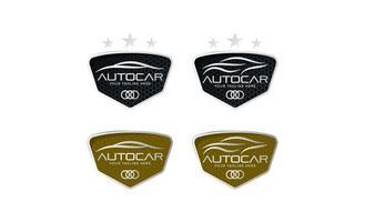 Auto Automobil Logo in einfachen Linie Grafikdesign Vorlage Vektor Vektor gesetzt