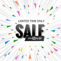 Försäljnings banner, Försäljning affisch banner mall design vektor