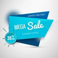 Mega försäljning mall banner design vektor