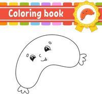 Malbuch für Kinder - Wurst vektor