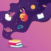 Willkommen zurück im schulischen Hintergrund vektor