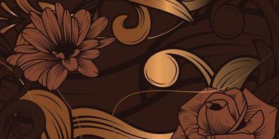 luxuriöser Blumenverzierungshintergrund vektor