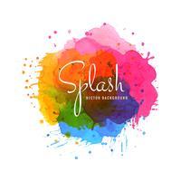 Elegant färgstarka splash akvarell bakgrund vektor