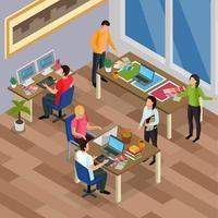 Werbeagentur Hintergrund Vektor-Illustration vektor