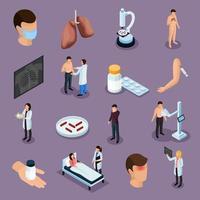 Tuberkulose-Präventionsikonen setzen Vektorillustration vektor