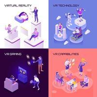 Vektorillustration des isometrischen Entwurfskonzepts der virtuellen Realität vektor