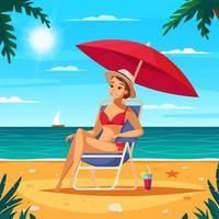 Reisebüro Cartoon Poster Vektor-Illustration vektor