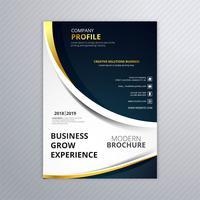Vacker affärskort broschyr våg mall bakgrund vektor
