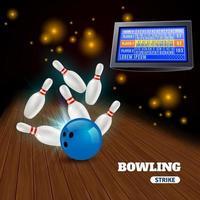 Bowlingstreik 3d Illustration Vektor-Illustration vektor