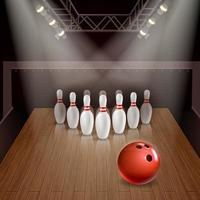 Bowling 3d Illustration Vektor-Illustration vektor