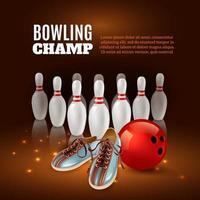 Bowlingchampion 3d Illustration Vektorillustration vektor