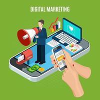 Vektorillustration des digitalen Marketingkonzepts vektor