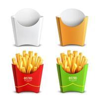 Pommes Frites 2x2 Design-Konzept Vektor-Illustration vektor
