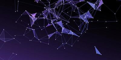 Netzwerkkommunikationsbanner mit Low-Poly-Design vektor