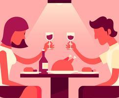 Leute, die an der Restaurant-Illustration essen