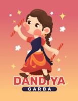 Dandiya och Garba affisch vektor