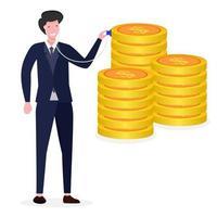 Illustration des Geschäftskonzepts der Finanzkontrolle vektor