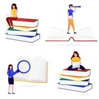 verschiedene Arten der Illustration von Wissen vektor