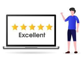Kunden geben die besten Bewertungen vektor
