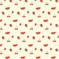 Röd Frukter Mönster