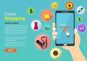Online-Shopping bei Ihnen zu Hause vektor