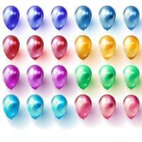 Feiertagsillustration des fliegenden glänzenden Ballonvektors vektor