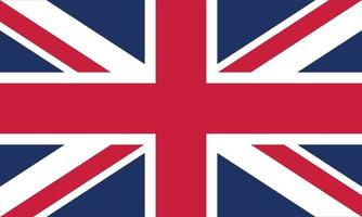 Vektorillustration der Flagge des Vereinigten Königreichs vektor