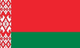 vektorielle Darstellung der belarussischen Flagge vektor
